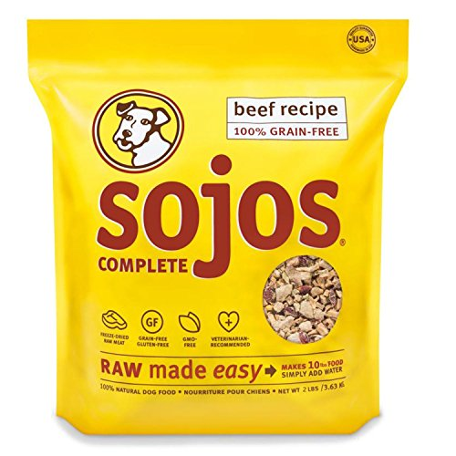 2 PACK (2 lbs x 2) Sojos Complete Raw Natural Dry Dog Food Mix Grain Free Beef by Sojos Natural Pet Food