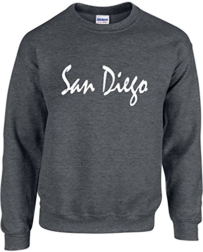 School Crewneck Sweatshirt (Adult Unisex Crewneck Size L (SAN DIEGO (CALIFORNIA)) Novelty)