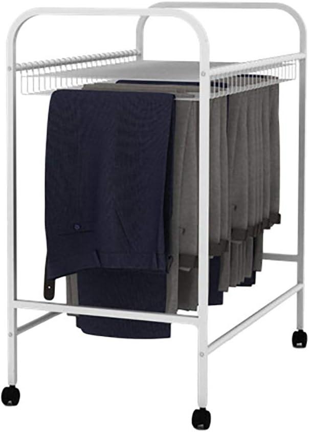Kleideraufbewahrung Kleiderb/ügel mit R/ädern Bewegliche Hosenregal Organizer Rack mit Abnehmbarer Stange Size : 55 * 43 * 85cm