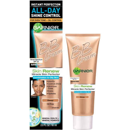 Garnier Skin Renew Miracle Skin Perfector Bb Cream, Combination To Oily Skin, Deep, 2 Fluid Ounce (Bb Cream For Oily Skin)