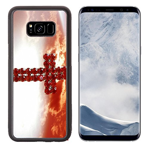 Pink Bouquet Cross (Liili Premium Samsung Galaxy S8 Plus Aluminum Backplate Bumper Snap Case Red cross Photo 10550430 Simple Snap Carrying)