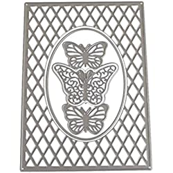Caopixx Lace Flower DIY Scrapbooking Cutting Dies Metal Stencil Template for Greeting Card Cover Embossing (D)