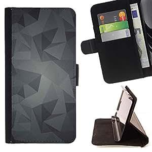 For Sony Xperia M2 Case , Patrón Gris Gris Android- la tarjeta de Crédito Slots PU Funda de cuero Monedero caso cubierta de piel