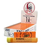 Zig Zag Orange 1 1/4 Rolling Papers (24 Packs/Box) with Hippie Butler Doob Tube