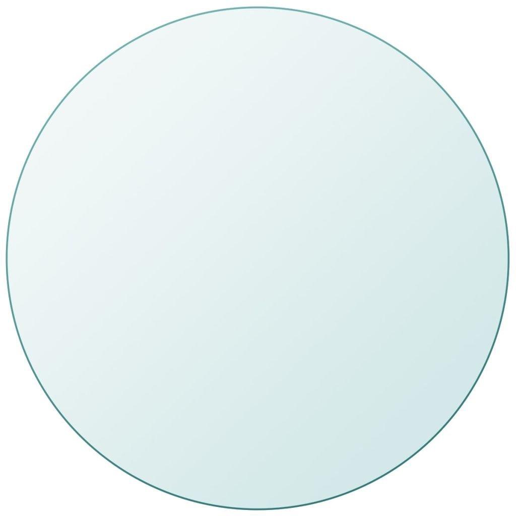 Vislone Cristal Redondo Tablero de Mesa Templado de Cristal para ...
