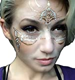 Best page x3, Gold Temporary Tattoos by Golden Ratio Tats, Boho, face paint, gold flash tattoos.