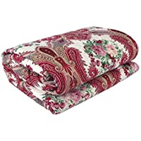 ROYAL RAJPUTANA Beautiful Floral Designs Reversible AC Blanket/Dohar/Quilt for Home Combo with LED String Light on Diwali (Maroon_Multi) (Double)