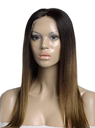 Amazon fashion ombre highlight straight remy human hair full fashion ombre highlight straight remy human hair full lace wig 14quot the same pmusecretfo Images