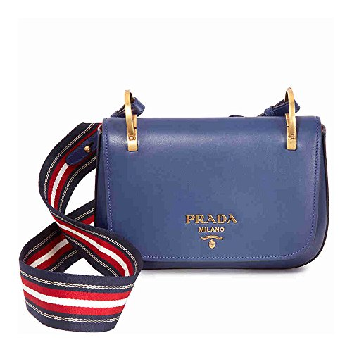 Prada Leather Shoulder Bag- Royal Blue (Handbag Blue Prada)