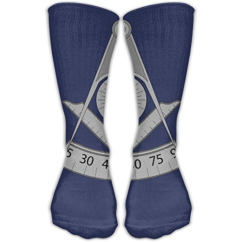 Masonic Design Compression Socks Sports Stockings Long Socks Football (Masonic 2 Heel)