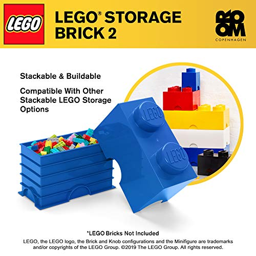 Room Copenhagen 2 LEGO Brick Box, Bright Blue, Model: 40020631