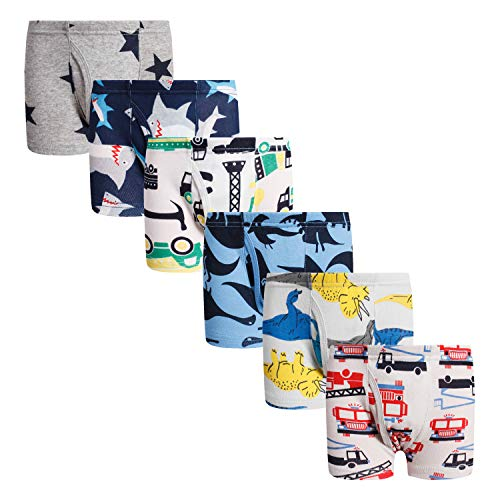 Boys Boxer Briefs Shorts Cotton Dinosaur Shark Baby Toddler Underwear for Kids Boy 3/6 Pack