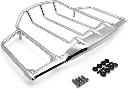 Green-L Chrome Detachable 2-Up Air Wing Luggage Rack Fit For Harley Touring Street Electra Glide Ultra Classic CVO Limited Road King 2009-2020