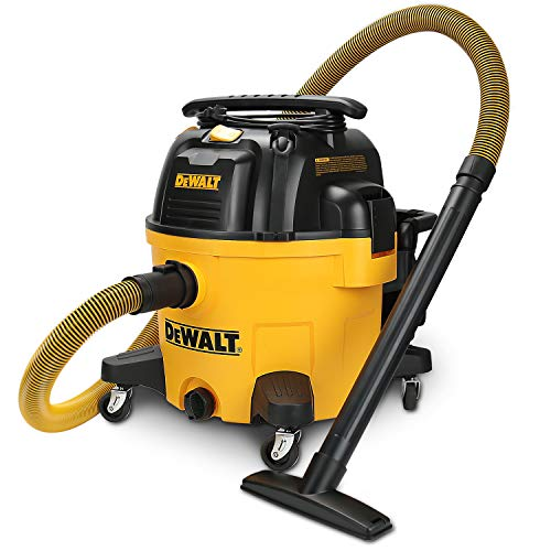 DEWALT 9 Gallon Wet/Dry VAC Heavy-Duty Shop Vacuum with Attachments, 5 Peak HP, with Blower Function, DXV09PA, Yellow