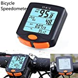 Bicycle Speedometer, Leewa Wireless Bike Cycling Bicycle Cycle Computer Odometer Speedometer Backlight with Digital LCD Display (Black)