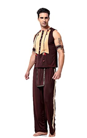 Amazon Com Native American Indian Mens Adult Costume Brown