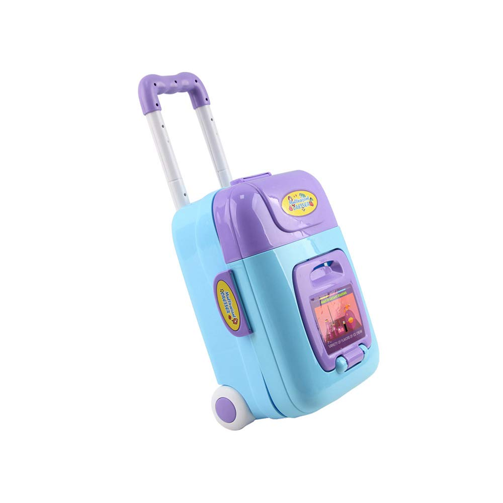 2 in 1 Vanity Table Beauty Play Set, Dressing Table & Music Suitcase Beauty Make Up Set with Comb, Hair Bands and Hair Dryer for 2,3,4 Yeards Old Kids (Multicolor)