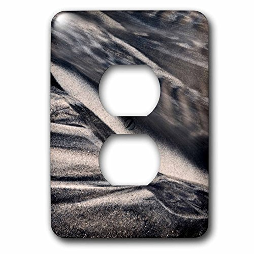 3dRose Danita Delimont - California - California, Encinitas, abstract of water flowing on beach - Light Switch Covers - 2 plug outlet cover - Outlet Encinitas