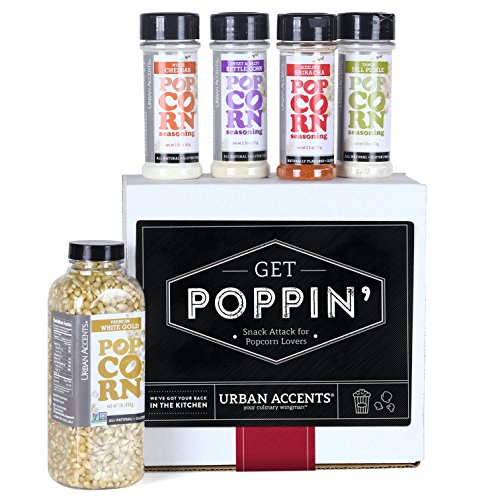 Urban Accents GET POPPIN' Snack Attack for Popcorn Lovers Gift Set, Hostess Gift For Any Occasion by Urban Accents