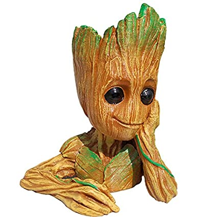 Unique Shape Guardians Of The Galaxy 2 Baby Groot Wooden Look Multicolour