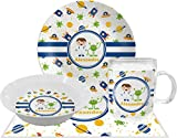 Boy's Space Themed Dinner Set - 4 Pc (Personalized)