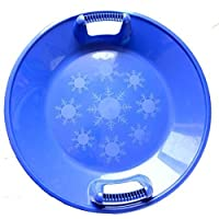 "e-joy Plastic Saucer Sled, Snow Sled Saucer, Kids Winter Snow Saucer, 25"" Diameter"