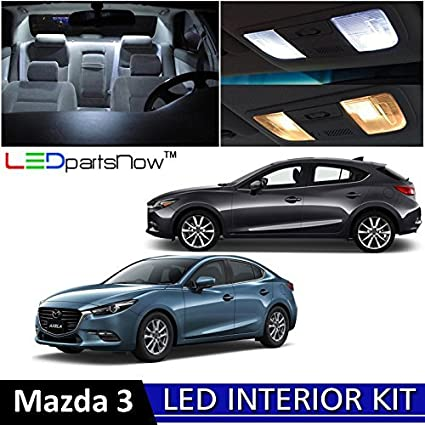 LEDpartsNow 2010 2018 Mazda 3 Sedan U0026 Hatchback LED Interior Lights  Accessories Replacement Package Kit