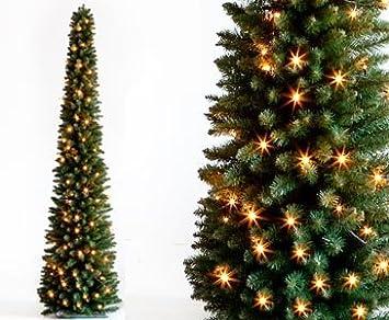 Weihnachtsbaum Künstlich Schmal.Kunstpflanzen Discount Com Künstlicher Led Weihnachtsbaum Säule Beleuchtet Höhe 180cm Säulenförmiger Weihnachtsbaum Tannenbäume Christbäume