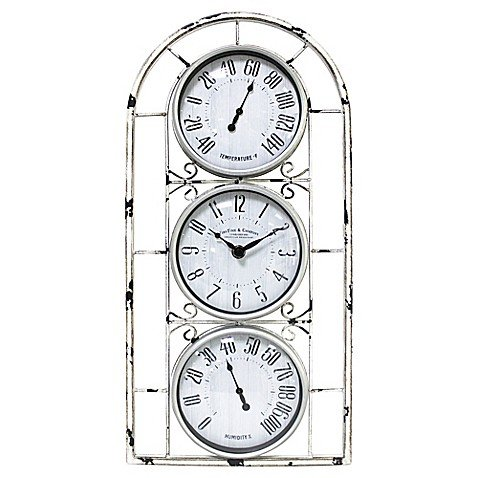 FirsTime Window Station Outdoor Wall Clock