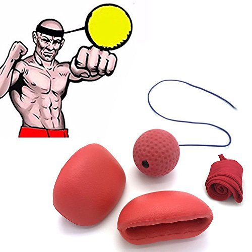 Reflex Boxing Ball Head Cap With Punch Gloves , Boxer Equipment Combo Gym Gear Set For Punching Accuracy, Speed Coaching, Faster Reflexes – DiZiSports Store