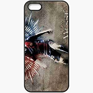 Personalized iPhone 5 5S Cell phone Case/Cover Skin Messi Football Black