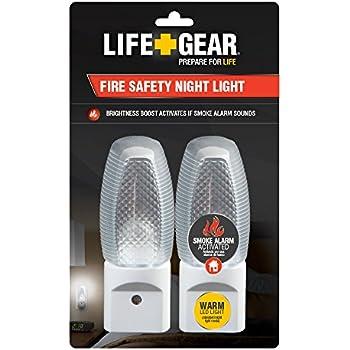 Life Gear 2-Pack Fire Safety Nightlight, Dawn until Dusk,