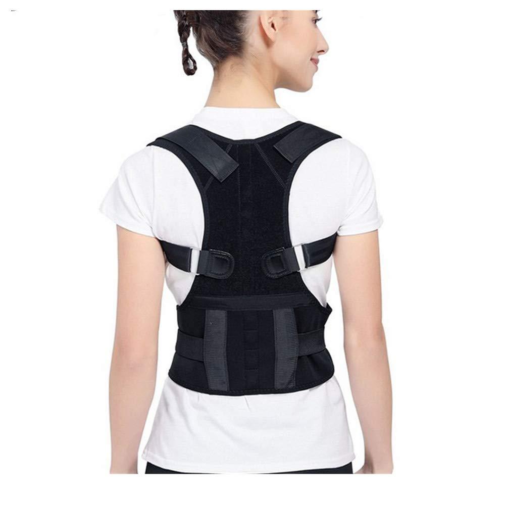 BYMZXBN Back Correction Belt, Back Lumbar Support kyphosis Correction Belt Adult Correction (Black)