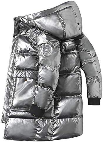 ブライトフェイスダウンジャケットメンズ冬のメンズダウンジャケットロングフード付き厚く暖かいメンズジャケット