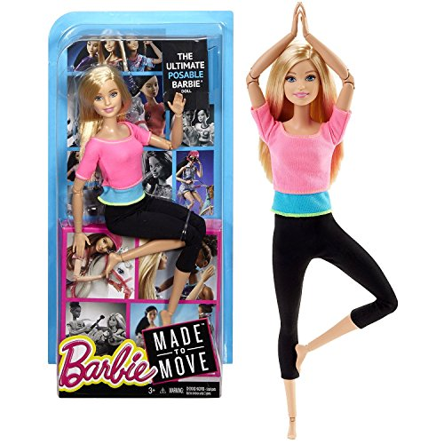 Barbie® Made to Move Barbie Doll, Blue Top - 3