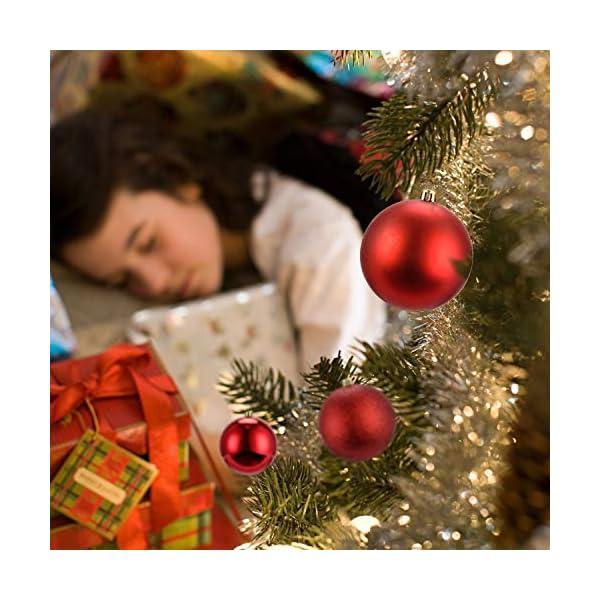 LessMo Palle di Natale (Rosso, 8cm) 7 spesavip
