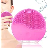 Facial Cleansing Brush,Rabiota Waterproof & Silicon Facial Cleaner,Electric Masager Cleansing System for Deep Cleansing Skin Care,Face Massage Brush and USB Charging Cables (Pink) (Color: Pink)