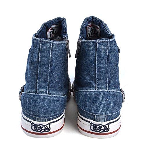 Baskets Bleu Chaussures Ash Femme Vertigo Denim 4q0xE7H