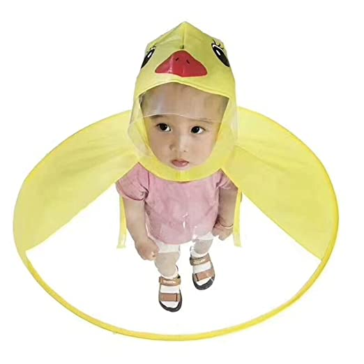 bdc0a5c19827f Creative Yellow Duck Poncho Children s Raincoat UFO Rain Coat Cover Funny  Baby Kids Outdoor Play Supplies