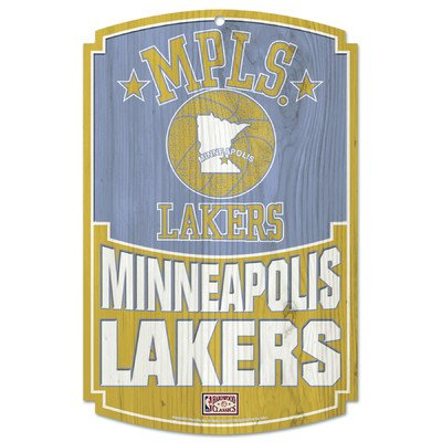 "NBA Minneapolis Lakers 77408091 Wood Sign, 11"" x 17"""