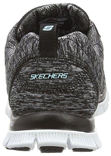 Skechers Sport Dames Leuk Alsjeblieft Flex Appeal Fashion Sneaker Zwart / Grijs
