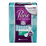 Poise Ultra Thin Incontinence Pads, Light Absorbency, Unscented, Regular (30 Count) (Pack of 4)
