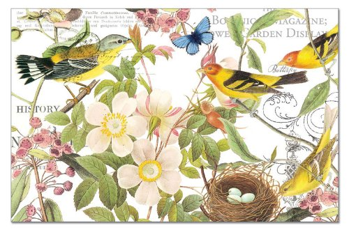(Counterart Paper Placemat, Botanical Birds, 24-Pack)
