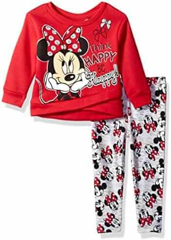Disney Girls' Minnie Mouse 2-Piece Faux Wrap Legging Set