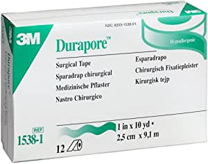 """Durapore Surgical Tape, 1"""" (Box of 12 Rolls)"""