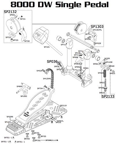 dw ( Drum Workshop ドラムワークショップ ) DW-SP2132 8000 ASSY 8000シリーズペダル用カム一式 ドラムパーツ   B00LXKCRRK