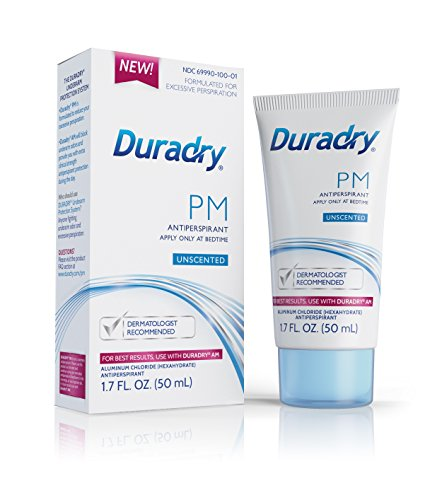 Duradry PM 50mL Gel Unscented Prescription strength antiperspirant. Specially formulated for excessive sweating or hyperhidrosis. For Men & Women. FDA-Compliant formula. Made in USA. (2-Pack) by Duradry