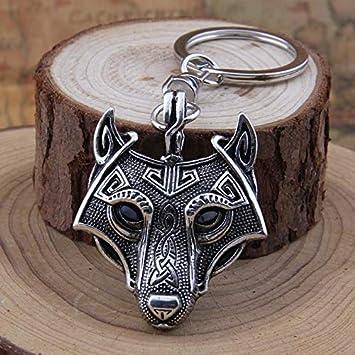 British Keychains - Llavero con diseño de Lobo Vikingo y ...