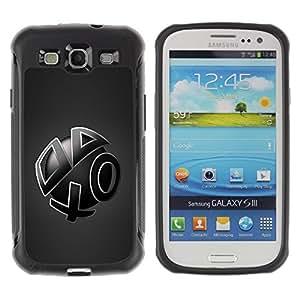 Fuerte Suave TPU GEL Caso Carcasa de Protección Funda para Samsung Galaxy S3 I9300 / Business Style Abstract Shapes