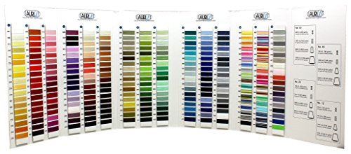 Aurifil Mako Cotton Thread Color Card ~ 270 Colors ~ Actual Thread Onto Card So You Can See Exact Colors (Thread Color Chart)